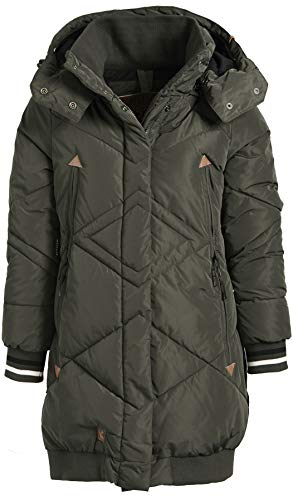 khujo Acai 1228CO183 Damen Winterjacke, 330 Dark Olive, XL