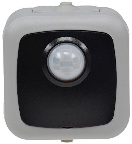 Bewegungsmelder PIR Infrarot Melder für Innen und Aussen IP44 2-500W LED geeignet Aufputz Zeit 5 sek - 10min Einstellbar Regelbar 75x75x55mm