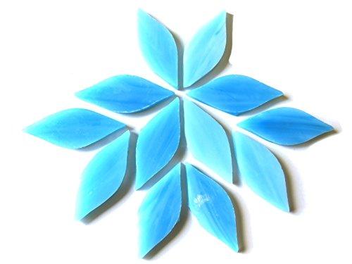 Craft Mosaik Fliesen-Kleine Blütenblätter-gebeizt Glas-Azurit 50g