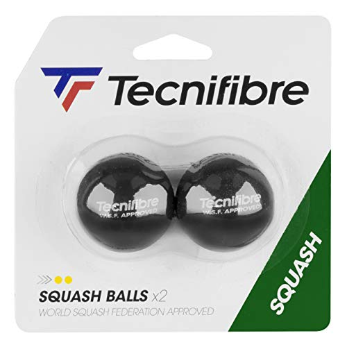 TECNIFIBRE Squash Ball Doppel Gelb Spot-2Kugeln Dorm -