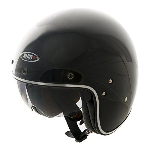 Shiro 235010 Jet Casco SH235, Negro