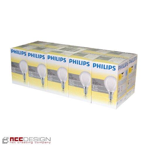 philips-pack-de-10-ampoules-a-incandescence-opaques-mates-forme-goutte-culot-e14-60w