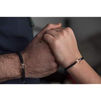 Partner Armband mit Anker. Maritimes Partnerarmband, personalisiert
