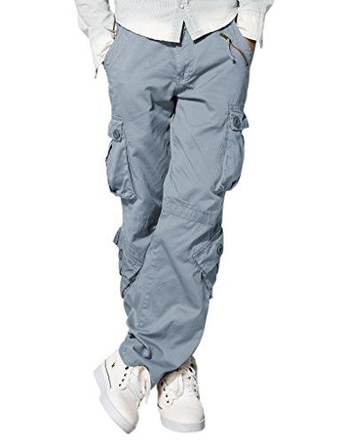 match-mens-retro-casual-cargo-trousers-3357bluish-gray36