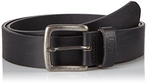 Lee Grained Belt, Cintura Uomo, Nero (Black), 105 cm (Taglia Produttore: 105)