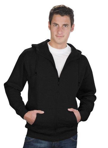 2008 Zip Hoodie (QUALITYSHIRTS Sweat Jacke mit Kapuze Hoodie, Gr. 4XL, schwarz)