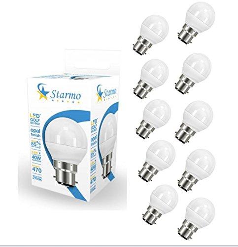 10-x-starmo-golf-bc-b22-bombilla-led-470lm-opal-59-w-40-w-luz-blanca-calida-2700-k