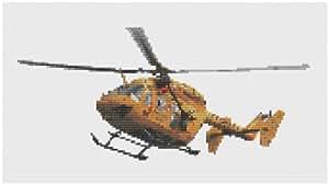 L'helicoptere de sauvetage Kit de broderie au point de croix