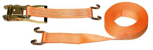 Kerbl 37143 Sangle d'arrimage en 2 parties avec crochet Orange 50 mm x 8 m Charge max. 4000 kg