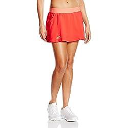 adidas Club Skort - Falda para mujer, color rojo / naranja, talla L