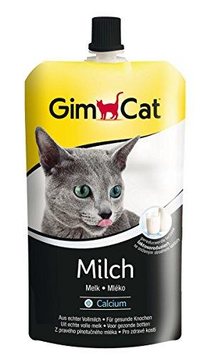 GimCat Milch mit Calcium | Katzenmilch aus echter laktosereduzierter Vollmilch für gesunde Knochen | 1 Beutel (1 x 200 g)