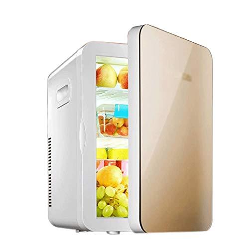 YPYCQ Mini-Kühlschrank mit Gefrierfach für Schlafzimmer, Büro oder Wohnheim mit verstellbarem Glasfach Kompakter Kühlschrank