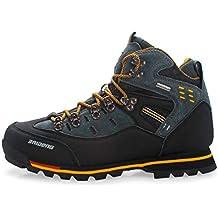 Zapatillas de Senderismo Impermeables para Hombres Zapatos de Trekking Antideslizantes para Exteriores de Calidad Transpirable Senderismo