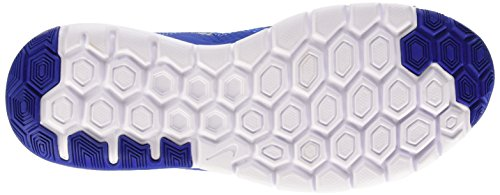 Nike Flex Experience Rn 4 Prem, chaussure de course homme Bleu / Plateado / Blanc (Game Royal / Metallic Silver-Wht)