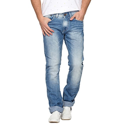 Spykar Mens Blue Slim Fit Low Rise Jeans (Rico) (38)  available at amazon for Rs.999