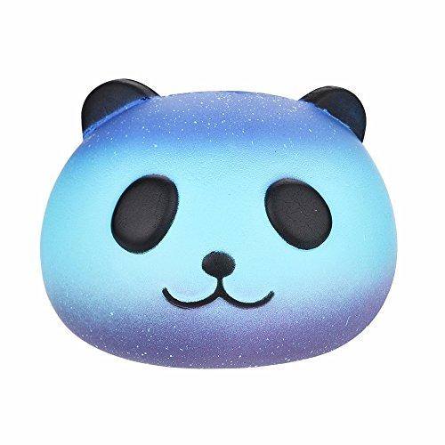 (Rosennie Jumbo Super Squishy Toys Cute Lila/Galaxy Loving Kätzchen Panda Slow Rising Duft Stress Relief lindern Super Weich Für Kinder und Erwachsene Spielzeug Beste Geschenk (F))