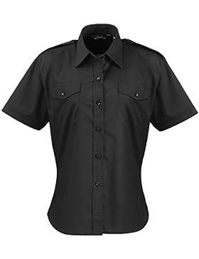 Premier Workwear Ladies Short Sleeve Pilot Shirt, Camisa Para Mujer