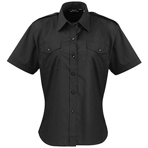 Premier Workwear Ladies Short Sleeve Pilot Shirt Test