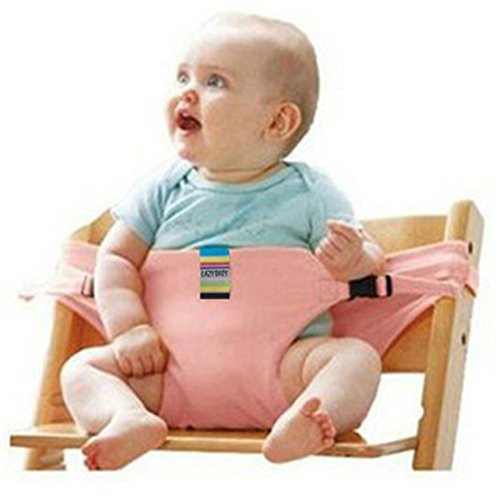 PENVEAT Stuhl für Babys Auto Baby Tragbarer Stuhl Sitzbezüge für Neugeborene Füttern Hochstuhl Sicherheit-Sets, pink -