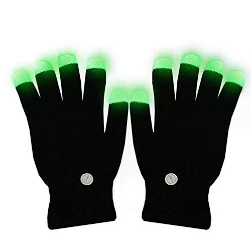 ANLW Handschuhe blenden Fingers Light Up Christmas Colourful Rave Handschuhe für Festivals Erwachsene Accessoires Weihnachtsmas/Gift