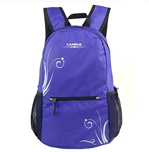 fanselatm-womens-durable-lightweight-polyester-backpack-travel-daypack-purple