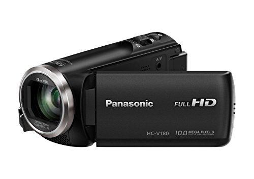 Panasonic HC-V180EG-K Full HD Camcorder (1/5, 8 Zoll Sensor, Full HD, 50x optischer Zoom, 28 mm...