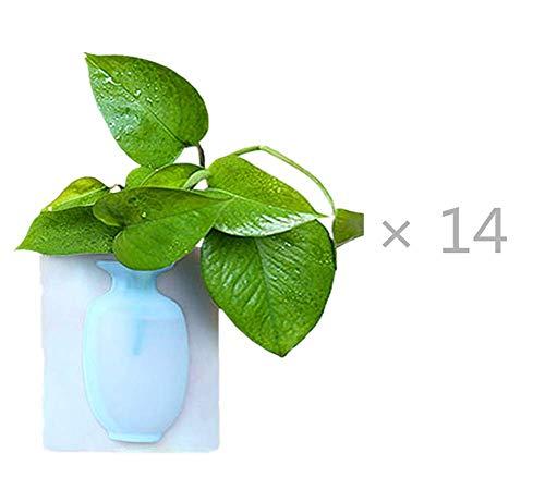 ROMOR Wandvase Silikon▕ Gummivase Gummiform Keine Spur kann am Glas befestigt Werden Übertopf Für Zimmerpflanzen, Sukkulenten, Luftpflanzen, Kakteen, Kunstpflanzen und Mehr.P30(Keine Pflanzen)