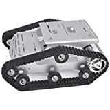 KOOKYE Roboter-Fahrgestell Smart Panzer Plattform Metall Edelstahl 2DW Motor 9V für Arduino/Raspberry Pi DIY (TR300)