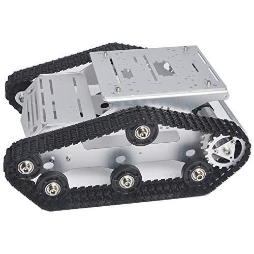 KOOKYE Roboter-Fahrgestell Smart Panzer Plattform Metall Edelstahl 2DW Motor 9V für Arduino/Raspberry Pi DIY (TR300) (Roboter-diy)
