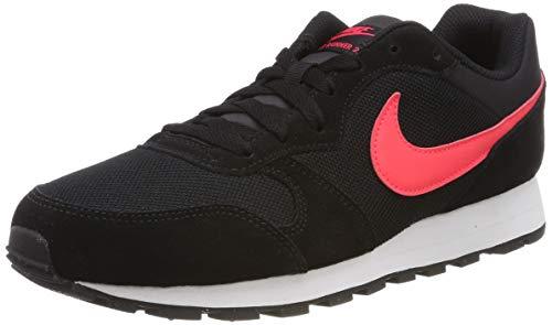 Nike Md Runner 2, Herren Gymnastikschuhe, Mehrfarbig (Black/Red Orbit 008), 45 EU