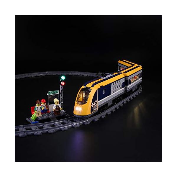 LIGHTAILING Set di Luci per (City Treno Passeggeri) Modello da Costruire - Kit Luce LED Compatibile con Lego 60197 (Non… 4 spesavip