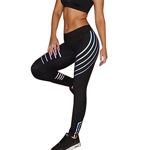 JYJM Damen Laser Farbe Yogahosen Damen leuchtende Leggings Damen sexy Strumpfhosen Damen Sporthosen Damen Fitness Hosen Damen dünne elastische Hosen Damen Tanzhosen