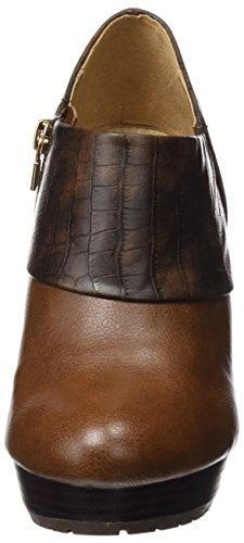 Maria Mare 2016 I Basic Calzado Señora, Chaussures à Talon avec Bout Fermé Femme BOMBEADO CASTAÑO / CROCO CHOCOLATE