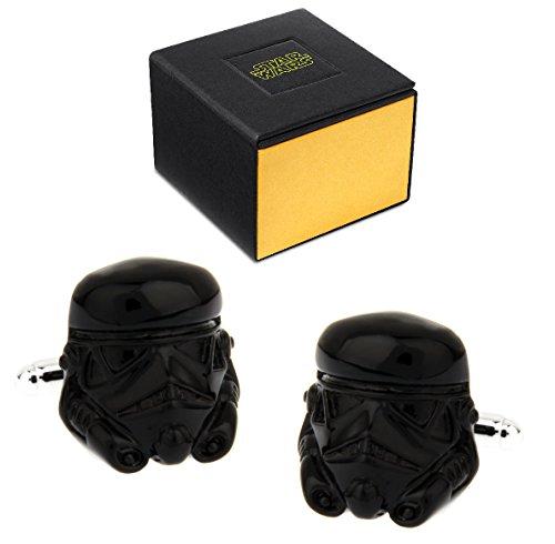 Manschettenknöpfe Star Wars Stormtrooper 3D, in Geschenkbox, Schwarz