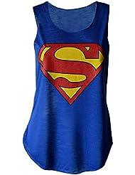 MyMixTrendz Super-héros Débardeur pour femme Imprimé Superman