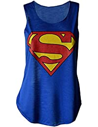 mymixtrendz–Débardeur pour Femme Imprimé Superman Super-Héros