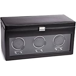 Wolf Designs 270502 Heritage Module 2.1 Triple Watch Winder with Cover and Storage