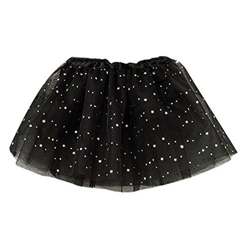 76331bb76014a Jupe Fille, Mounter Puff Étoiles Danse Ballet Jupe  Stars   Paillettes  Tutu