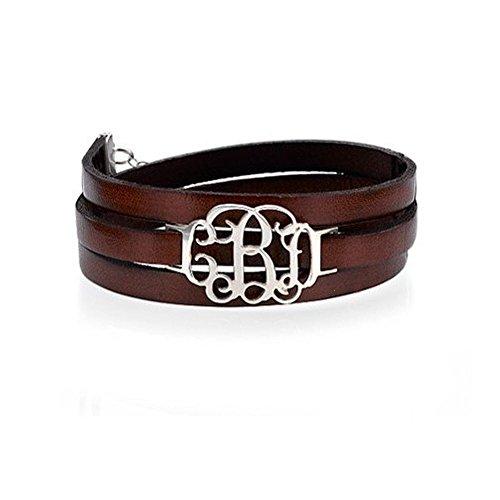 Monogramm Leder-Wickelarmband- Personalisiert mit Ihrem eigenen Wunschbuchstaben! (Monogramm-leder Personalisierte)