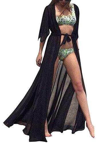 Cardigan Largo Mujer Verano Tallas Grandes Kimono
