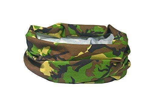 RUFFNEK WALD ARMEE TARNMUSTER/CAMOUFLAGE DESIGN Multifunktionale Kopfbedeckung Halstuch für Männer, Damen & Kinder -