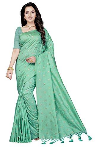 Rani Saahiba Art Tussar Silk Zari Woven Saree ( SKR3906_Turquoise )