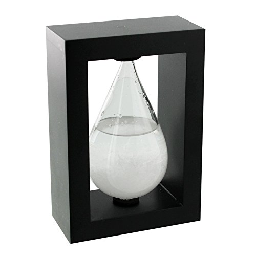 ukgiftstoreonline Tear drop Fitzroy Storm Glass In Wood Frame