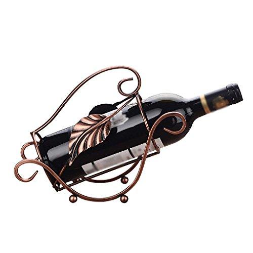 Europäische Kreative Wein Regal Dekoration-19 * 25,5 * 10Cm-Haus Eisernes Wohnzimmer Ornament, Platz Sparen
