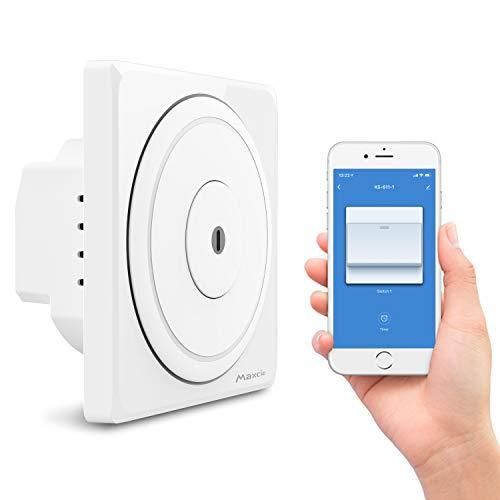 Angebot: Smart Alexa Lichtschalter, Maxcio Alexa Wlan Lichtschalter 1 Weg, Kompatibel mit Alexa, Google Home und IFTTT, APP Fernbedienung, Timer Funktion und Überlastungsschutz, Nullleiter Erforderlich für nur 17,99 € statt bisher 19,99 € auf Amazon