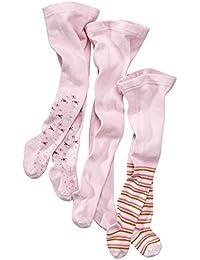 wellyou, Kinder-Strumpfhosen für Mädchen 3er Set, Baby-Strumpfhosen rosa, hoher Baumwoll-Anteil, Größe 62 – 146