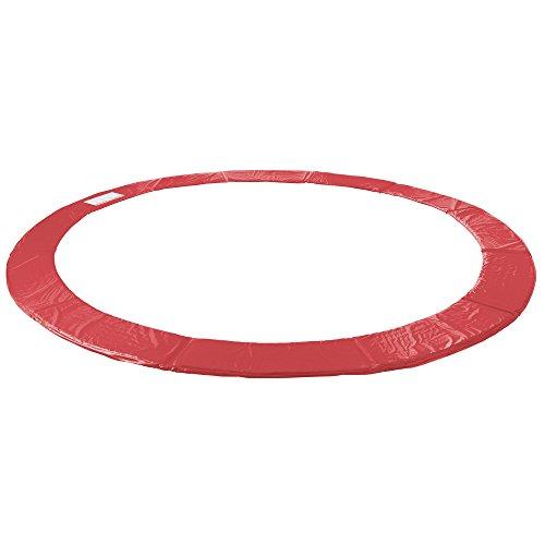 Arebos Trampolin Randabdeckung / 183, 244, 305, 366, 396, 427, 457 oder 487 cm/rot (396 cm)