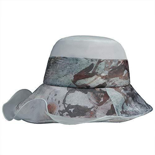 Frauen Silk UV-Schutz Summer Beach Sun Bucket Hut Fedora Faltbare Floppy Wide Brim,Green Kentucky Derby Jockey Silks