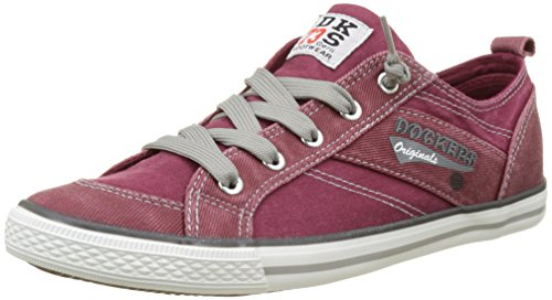Dockers by Gerli Unisex-Kinder 36VC606-790720 Low-Top, Rot (dunkelrot 720), 38 EU