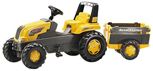 ROLLYTOYS 800285 Trettraktor mit Bauernhof Abstellgleis-gelb Toys Rolly Junior -